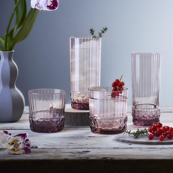 Набор стаканов AMERICA 20s 400 мл 6 шт цвет розовый