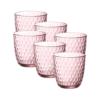 Набор стаканов BICCHIERI PRESSATI SLOT 290 мл 6 шт цвет розовый