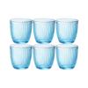 Набор стаканов BICCHIERI PRESSATI ILINE 290 мл 6 шт цвет голубой