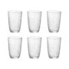 Набор стаканов BICCHIERI PRESSATI SLOT 390 мл 6 шт