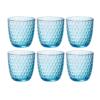 Набор стаканов BICCHIERI PRESSATI SLOT 290 мл 6 шт цвет голубой