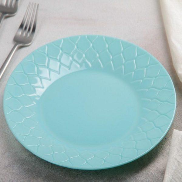 Тарелка суповая AMARIO LIGHT TURQUOISE 23 см
