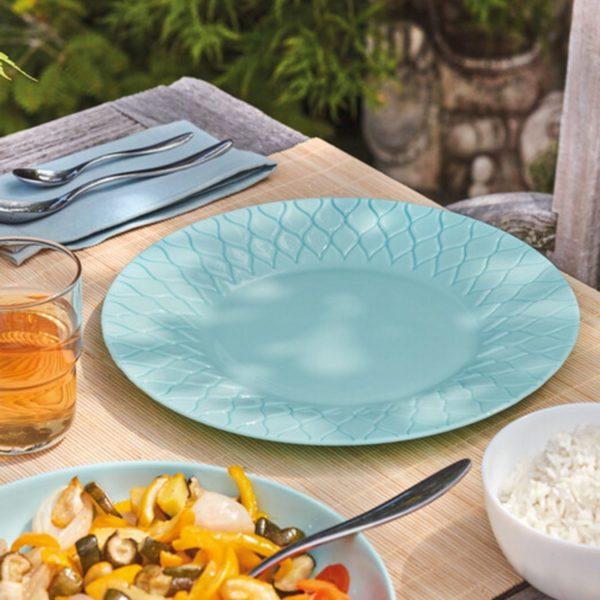 Тарелка десертная AMARIO LIGHT TURQUOISE 22 см