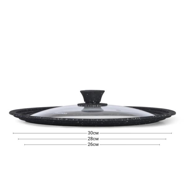 Крышка TRIPLEX 26/28/30 см с силиконовым ободком цвет черный