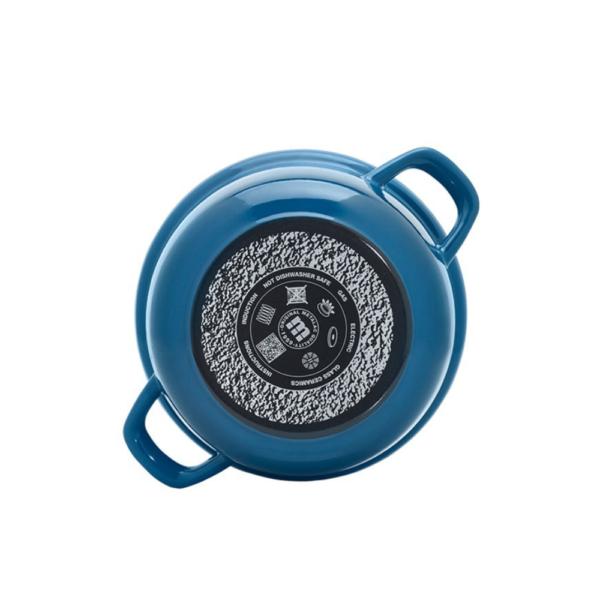 Кастрюля Максимус 5,4 л с металлической ручкой, с крышкой цвет синий